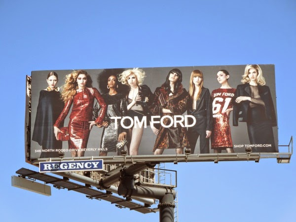 Tom Ford FW 2014 collection billboard