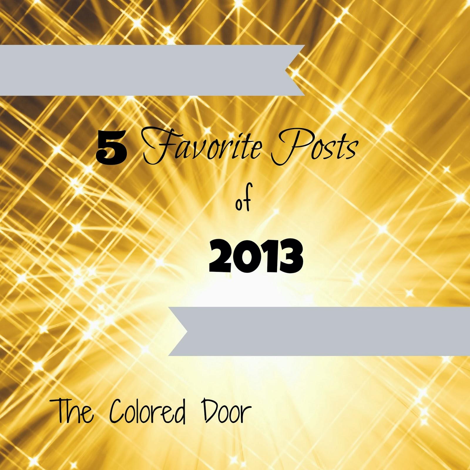 5 favorite posts of 2013 - the colored door