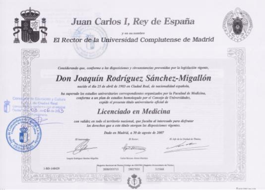 Licenciado en Medicina