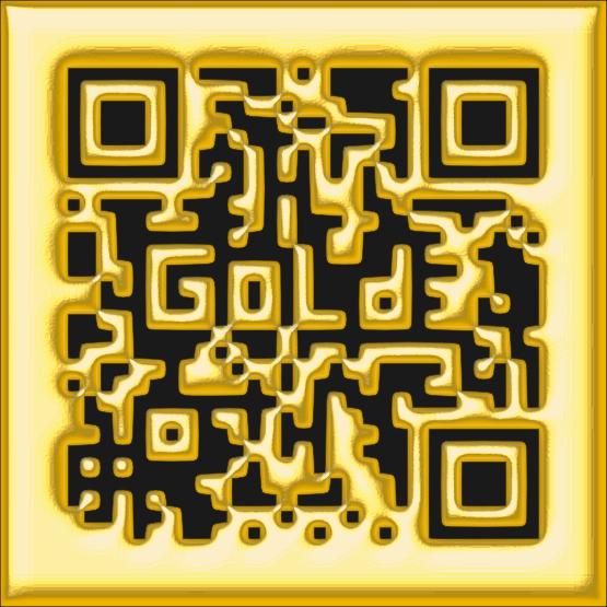 golden qr code
