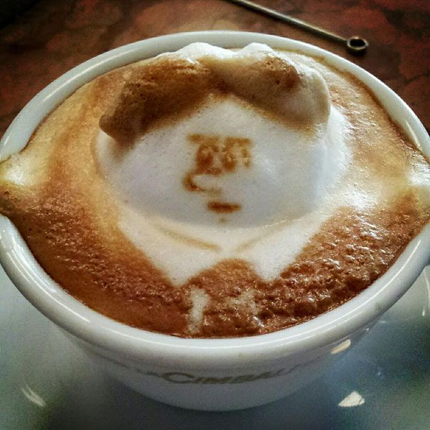 amazing, incredible, 3d art, coffee art, coffee foam art, japanese artist, kazuki yamamoto, cute art,