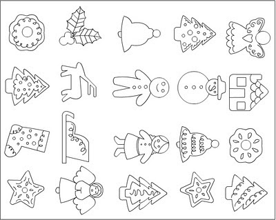 Christmas Cakes Coloring Pages