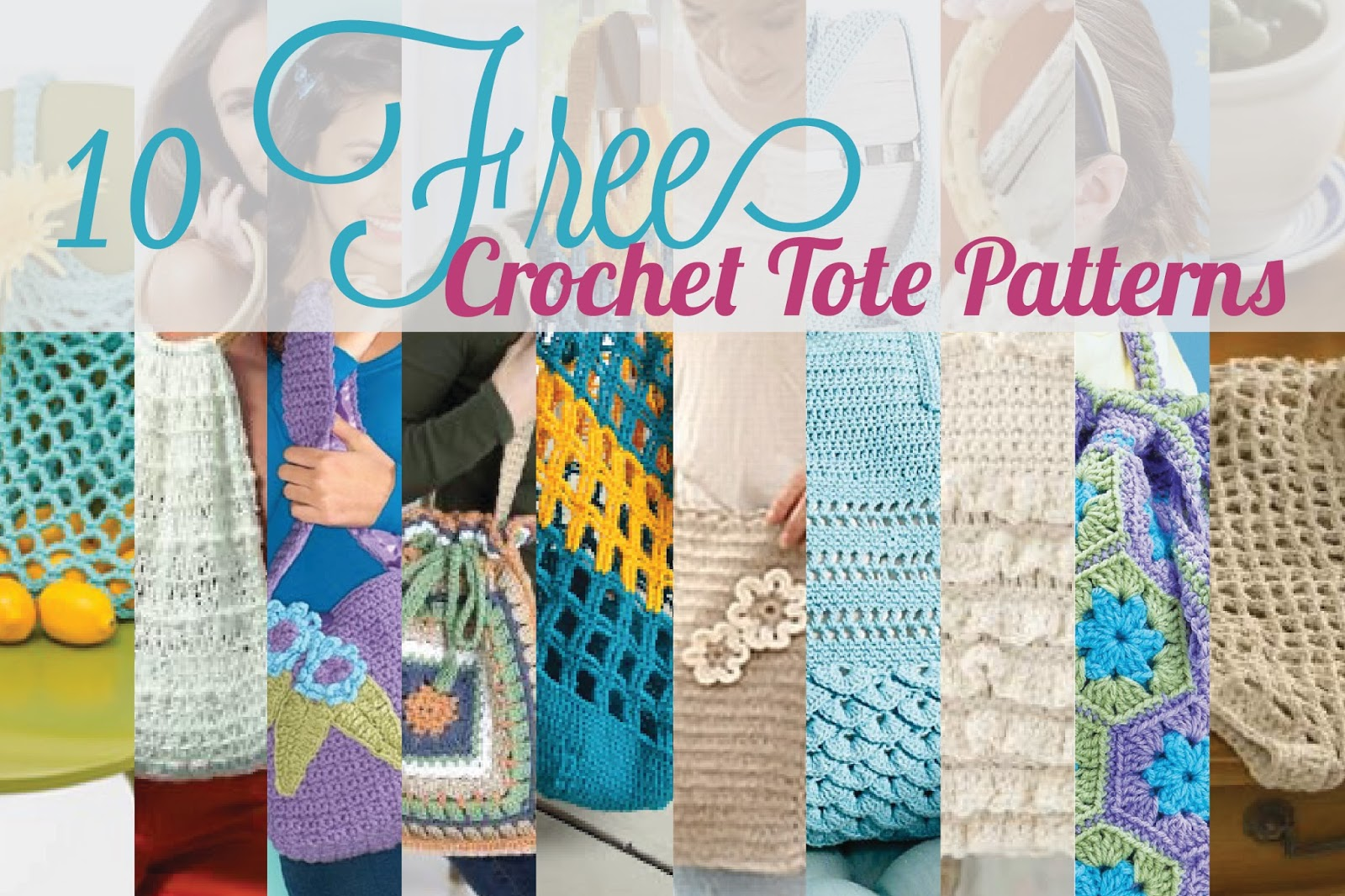 Free Crochet Patterns For Bags And Totes : Cottontail Crochet: 10 Free Crochet Tote Patterns