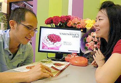 A perfect match: Lee and Ammie have boosted sales of roses during Valentine's Day by using technology to help the family florist business.