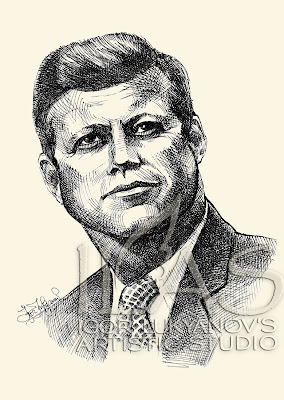 John F. Kennedy portrait