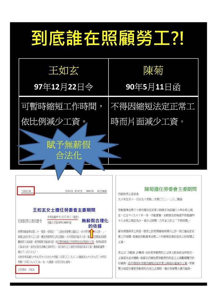 陳菊細說無薪假原委 駁王如玄不實指控