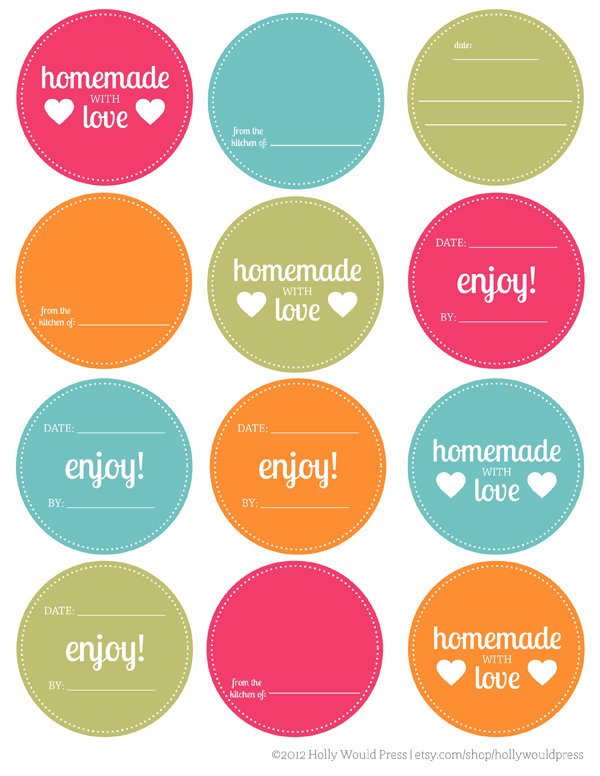 free mason jar labels download (via Holly Would)
