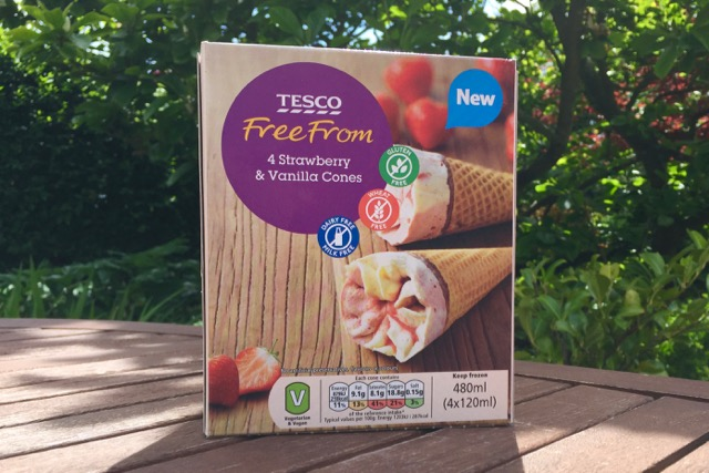 Tesco Strawberry & Vanilla Cones (vegan cornettos)