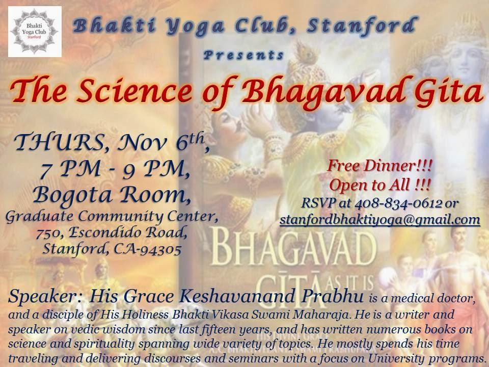 Seminar On The Science Of Bhagavad Gita Ancient Book Yoga