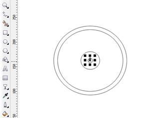 menggandakan lingkaran menjadi 4