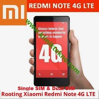 Cara Mudah Root Xiaomi Redmi Note 4G Lte MIUI v6.4 up Single SIM Dan Dual SIM