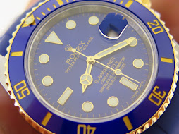 ROLEX SUBMARINER DATE CERAMIC SUNBURST BLUE DIAL - TWO TONE - ROLEX 116613LB - SERIAL RANDOM 2014