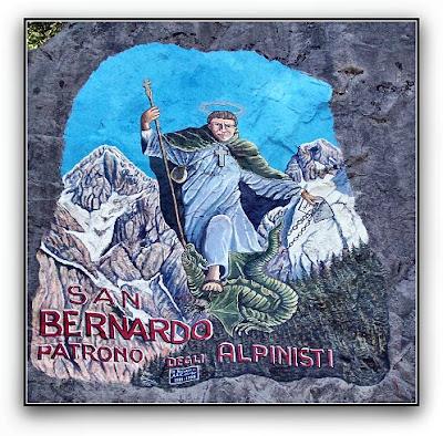San Bernardo. Patrono degli Alpinisti Opera di Fabio TAMUSSIN