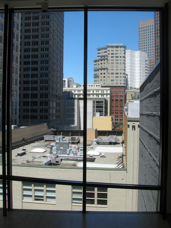 San Francisco skyline from top floor of SFMOMA