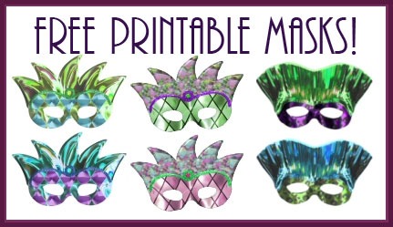 Clean image inside printable mardi gras masks
