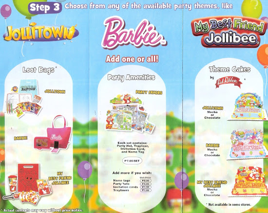 Available themes for Jollibee party