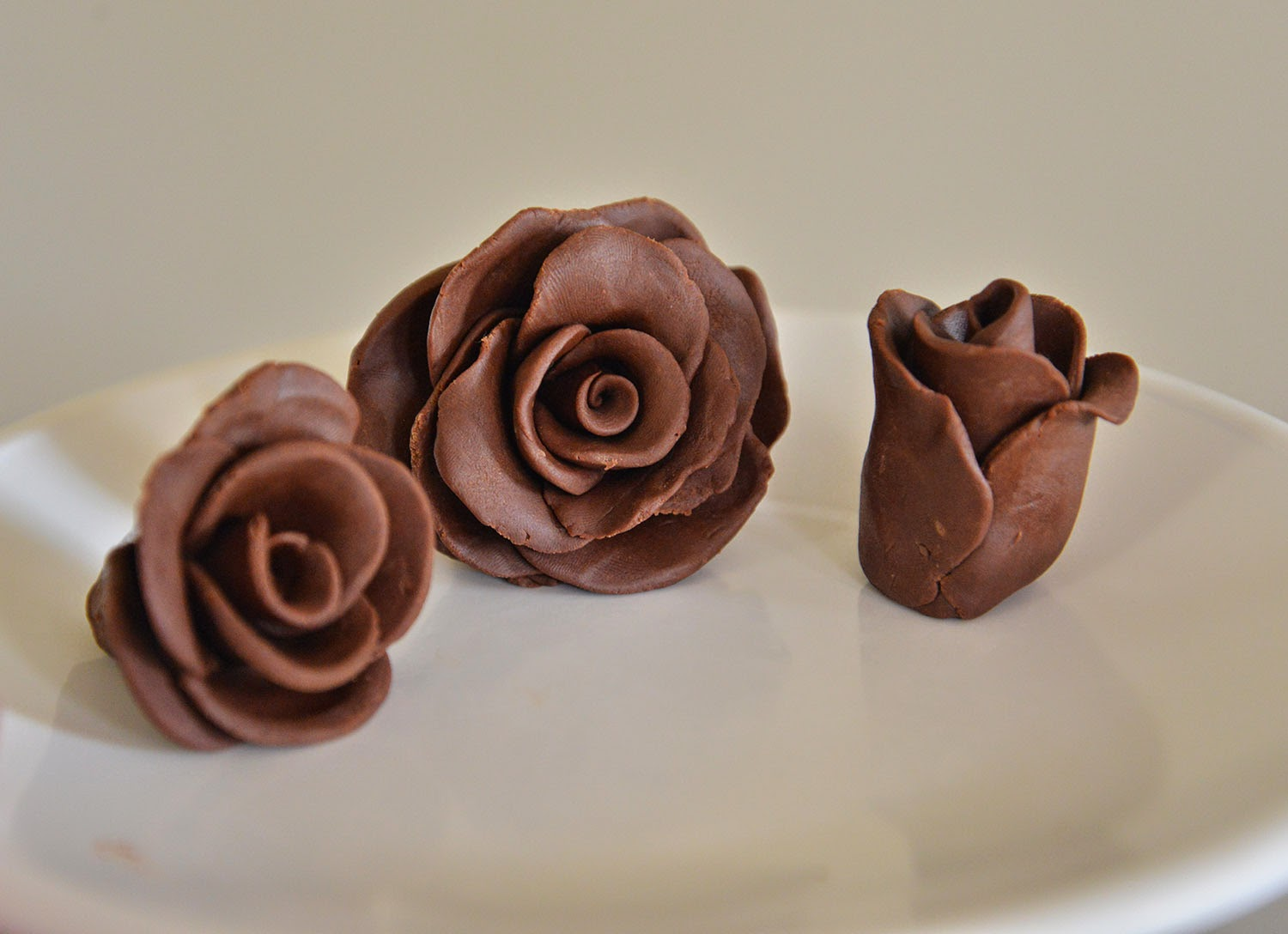 A school of fish: Chocolate Modeling Clay; Chocolate Roses