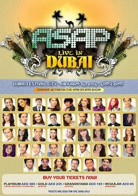 ASAP Live in Dubai on January 24, Biggest Filipino Event Ever in the Middle East