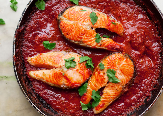 National Foods Recipes: Fish In Spicy Tomato Sauce