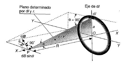 campo magnetico producido por una espira