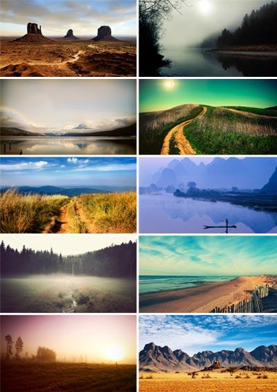 Природа, обои для рабочего стола на Desktopwallpapers  - картинки для рабочего стола природа
