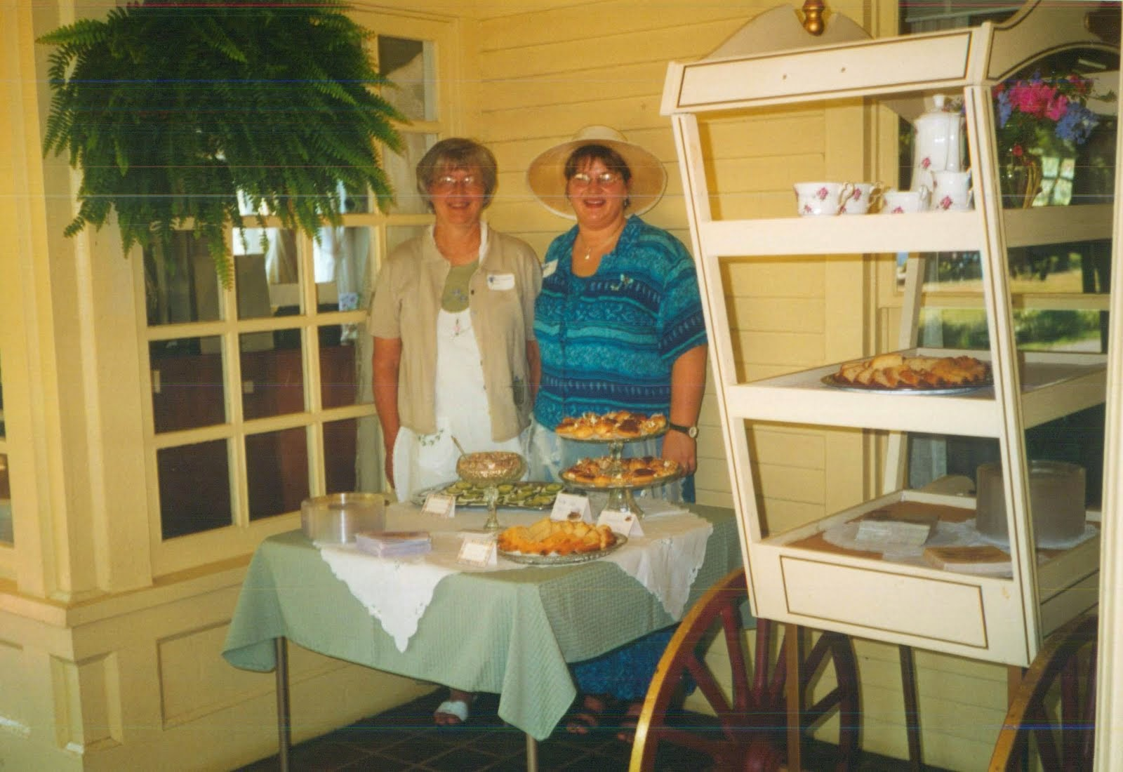 2002 Mom and I cater a Tea