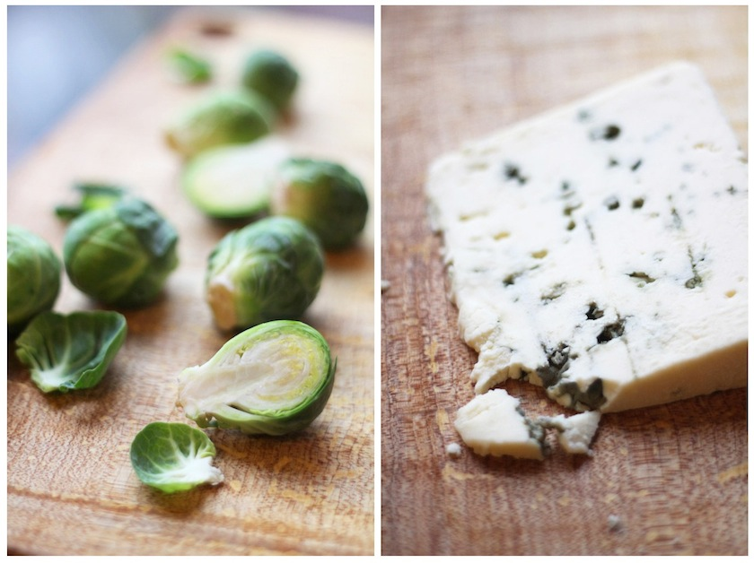 ... by Aubergine: Brussels Sprouts Gratin in Cream and Blue Cheese