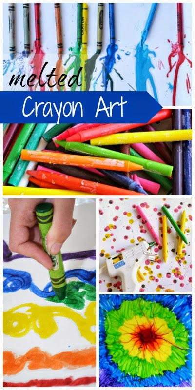 16 amazing art projects using melted crayons