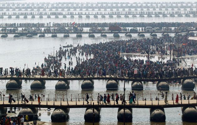36 reported dead as stampede mars India's Ganges festival