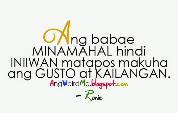 Girl Quotes Tagalog