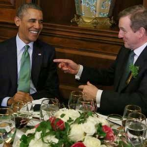 st-st patrick-saint patrick: Happy St Patricks Day Obama Celebrates St. Patrick's Day