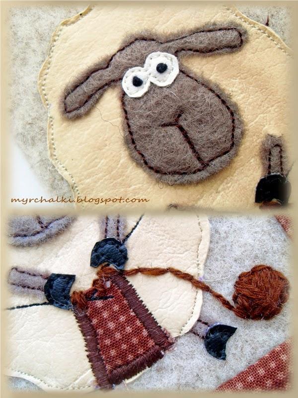 аппликация овечка своими руками