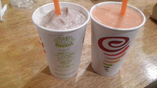 Jamba Juice Mix Your Own Smoothie! Saw some old friends who now live in the vicinity so I just purchased Chocolate Mood and Carribean Passion while having a long chat with them!