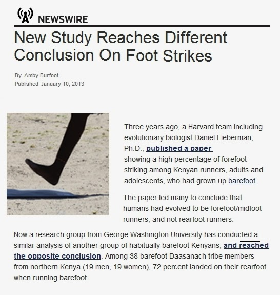 barefoot running research paper