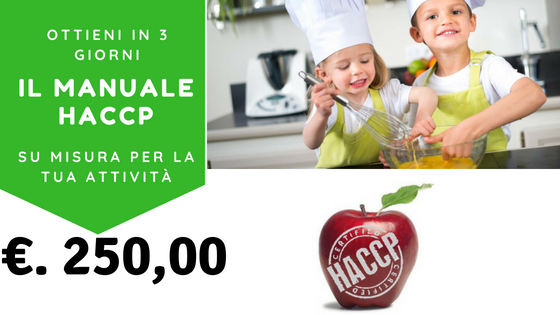 Il Tuo  Manuale HACCP on line