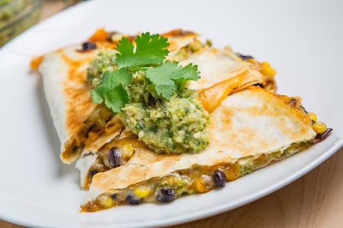 ... and Black Bean Quesadillas with Roast Zucchini Salsa on Closet Cooking