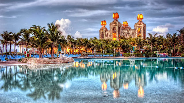 A stylized picture of Atlantis in the Bahamas
