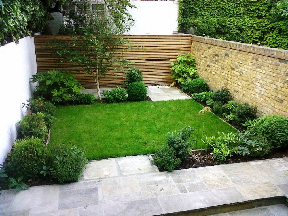 Kleine Gärten Gartenideen. Minimalistischen Garten Rasen