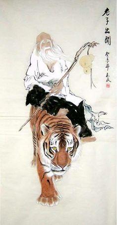 Lao Zi y el tigre