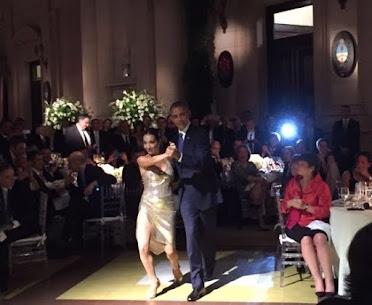 """* Y Mora Godoy bailó """"La cumparsita"""" con Barack Obama"""