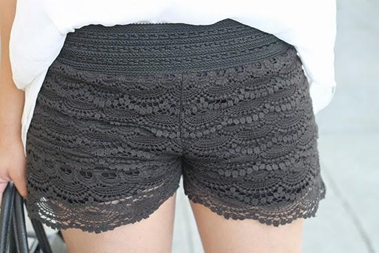 Olive & Oak Lace Shorts