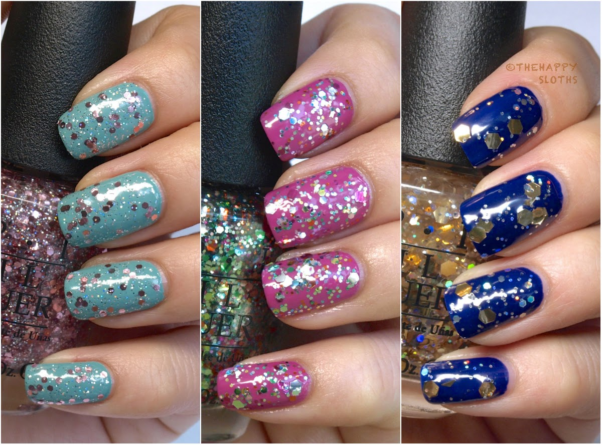 Opi Spotlight On Glitter Nail Polish Collection Review And Swatches