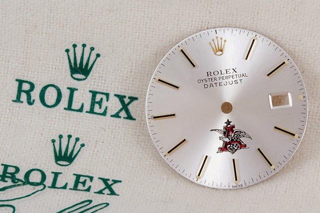 Anheuser Busch logo Rolex dial