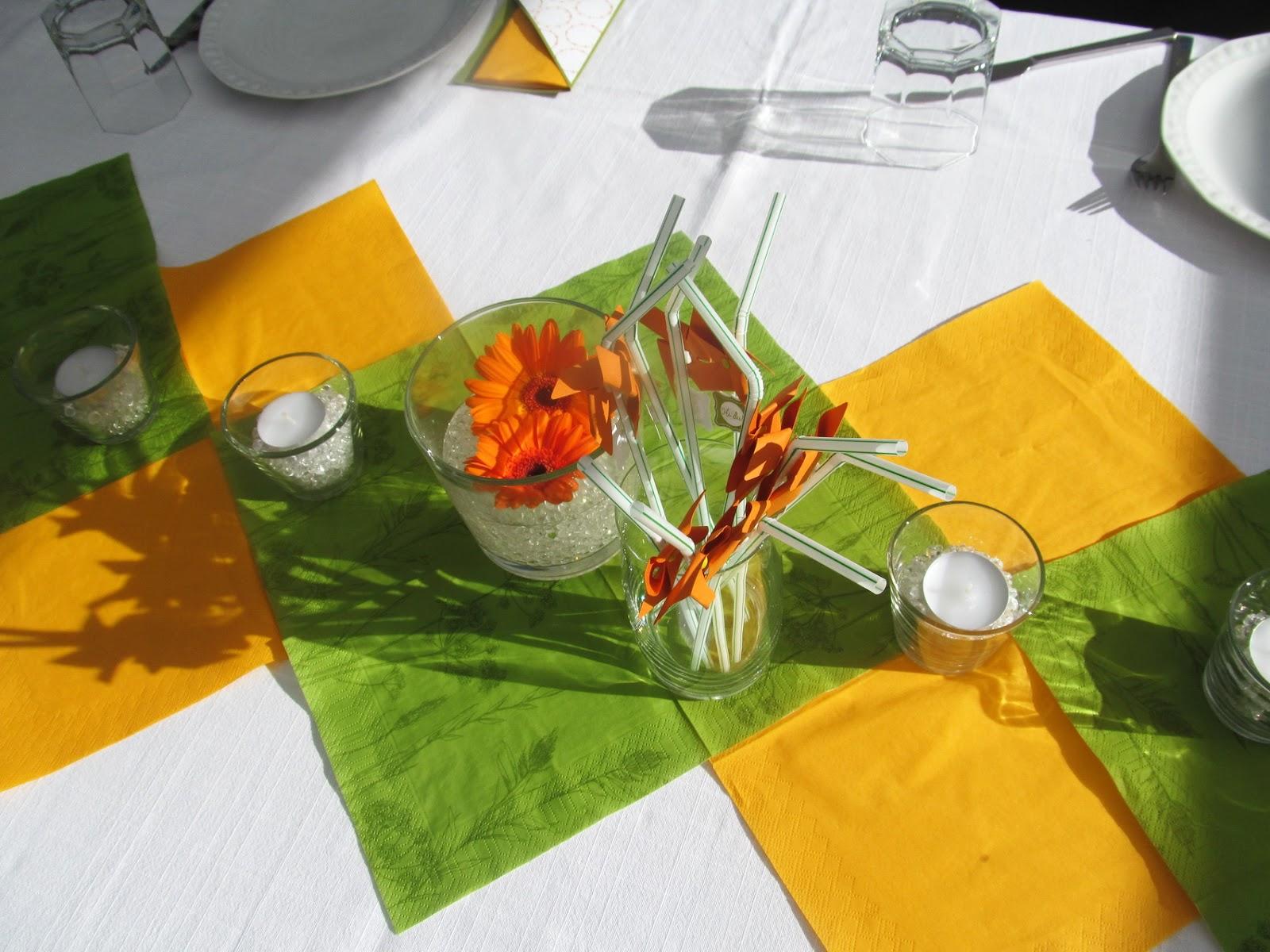 Unsere Papierstube Sommerliche Tischdeko