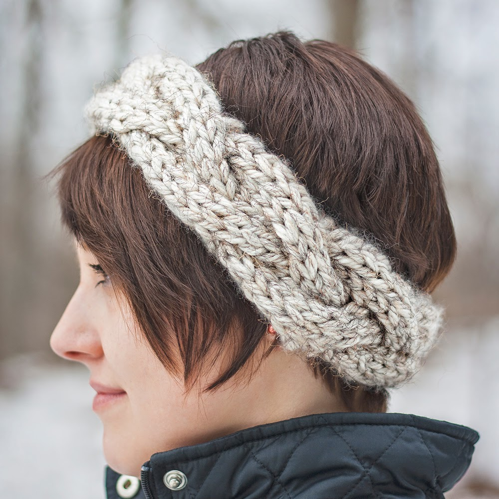 Free Crochet Cable Stitch Headband Pattern : Cable Crown Super Bulky Headband MARGO KNITS