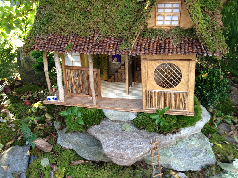 Sally dean 365 flowers fairy houses - Houses made from natural materials ...