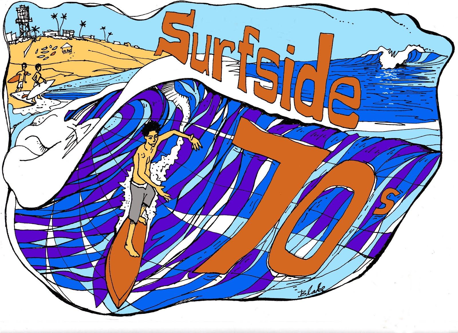2012 14th annual Surfside Seventies poster