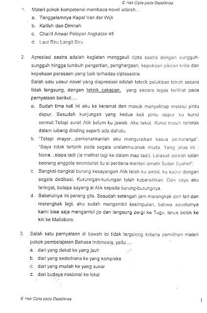 Contoh Soal Uji Kompetensi Guru Ukg Bahasa Indonesia Smp Info Pendidikan