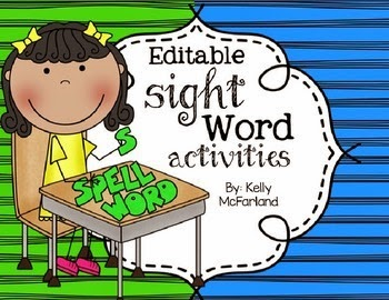 https://www.teacherspayteachers.com/Product/Sight-Word-Activities-1512410