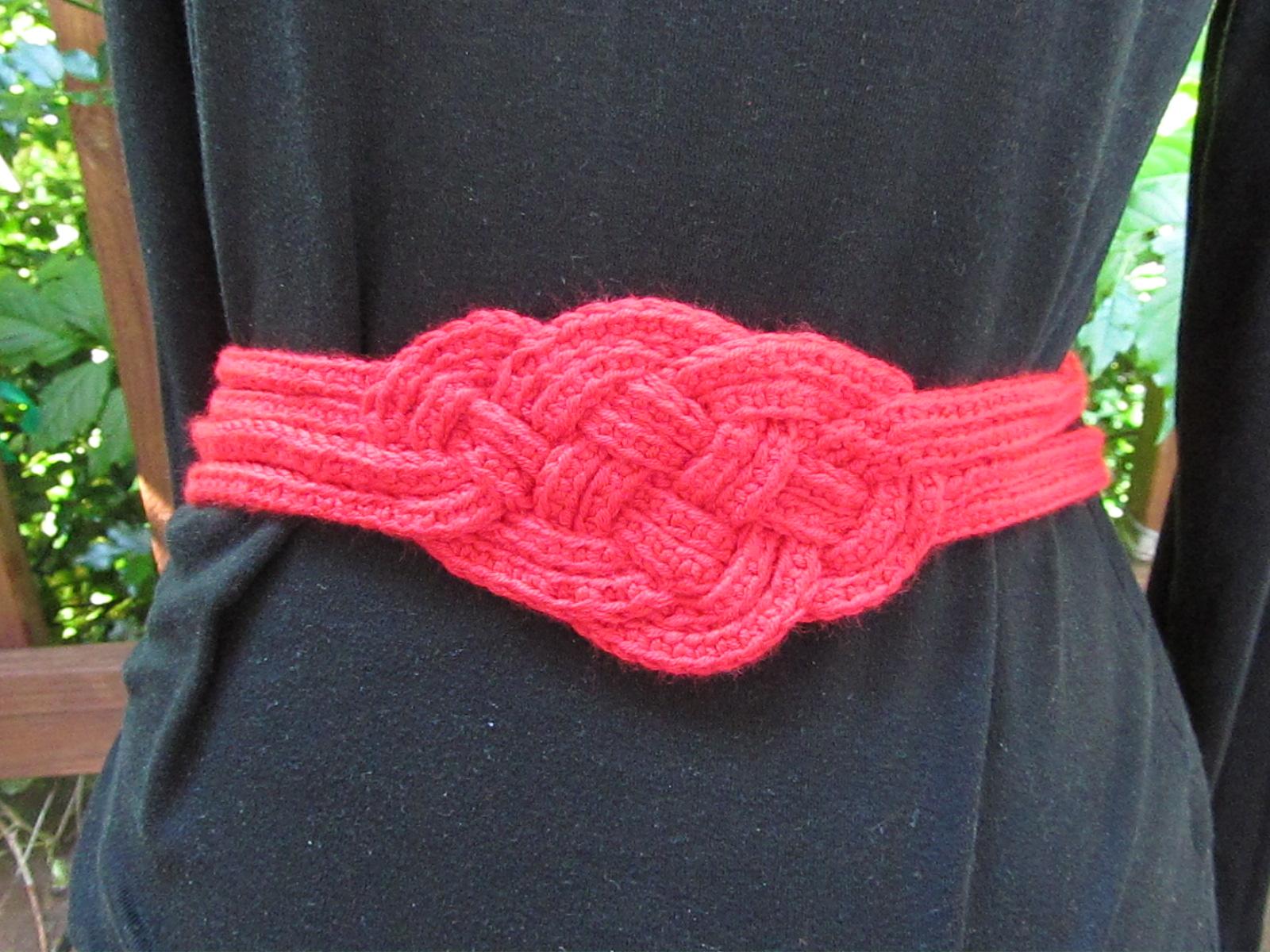 Celtic Knot Belt Free Pattern Celtic Knot Crochet